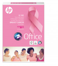 HP Office Pink Ream Charity Promotional White Paper FSC Mix 70% A4 210x297mm 80gm2 Pack Of 500