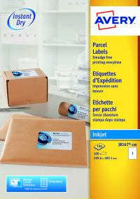 Avery QuickDRY White Inkjet Label 199.6 x 289.1mm 1 Per Sheet (Pack of 100) J8167-100