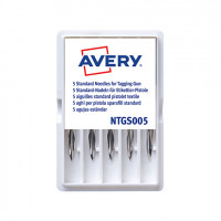 Avery Dennison Tagging Needle Plastic Standard (Pack of 5) 05012