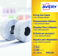 Avery White 1-line Permanent Labels 12mm x 26mm (Pack of 15000) WP1226