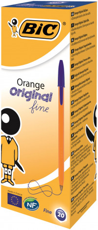 Bic Orange Fine Ballpoint Pen Blue (Pack of 20) 1199110111