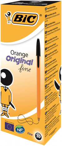 Bic Orange Fine Ballpoint Black Ink Pen (Pack of 20) 1199110114
