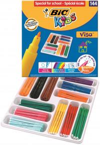 Bic Kids Assorted Visa Felt Pens (Pack of 144) 887838