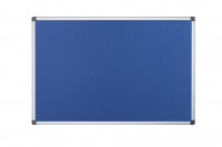 Bi-Office Aluminium Trim Felt Notice Board 1200x900mm Blue FA0543170