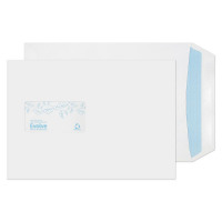 Evolve Recycled C5 Window Envelopes Self Seal 100gsm White (Pack of 500) RD7084