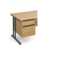 Maestro 25 GL 2 drawer fixed pedestal - oak