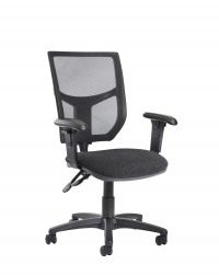 Altino high back operator chair with adjustable arms charcoal
