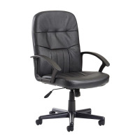Cavalier black fabric managers chair