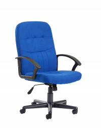 Cavalier black leather faced managers chair