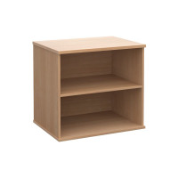 Deluxe desk high bookcase with one adjustable shelf in Beech
