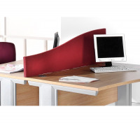 Dams Desk Mounted Screen Wave 1000mm Red