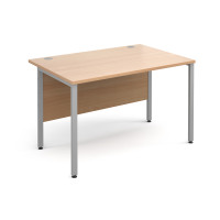 Maestro 25 SL 1200mm 4 Leg Straight Desk Silver Beech