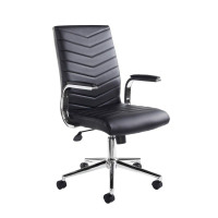 Martinez managers chair - black faux leather