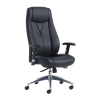 Odessa high back executive chair - black faux leather