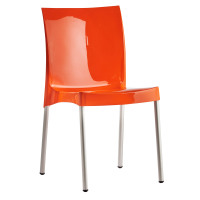Orb Plastic Cafe Chair Orange