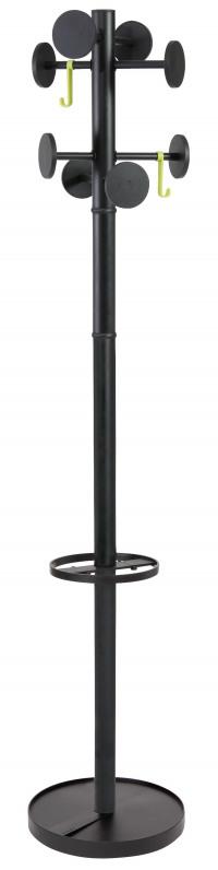 Alba Stan Coat Stand Black (Total height: 1750mm) PMSTAN3N