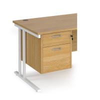 Maestro 25 2 drawer fixed pedestal - oak