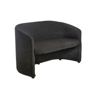 Slender Fabric Reception Double 2 Seater Chair 1225mm Wide - Charcoal