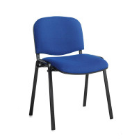 Taurus meeting room stackable chair with black frame and no arms - blue
