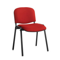 Taurus Meeting Room Stackable Chair With Black Frame And No Arms Burgundy
