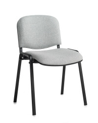Taurus meeting room stackable chair with black frame and no arms - grey