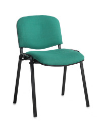 Taurus meeting room stackable chair with black frame and no arms - green