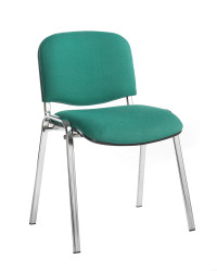 Taurus meeting room stackable chair with chrome frame and no arms - green