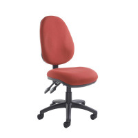 Vantage 100 2 lever PCB operators chair with no arms - burgundy