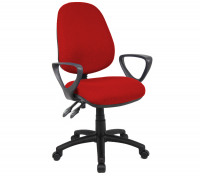 Vantage 100 2 Lever Pcb Operators Chair With Fixed Arms - Burgundy