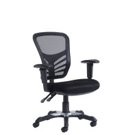 Vantage mesh 2 lever chair task chair with adjustable arms - black