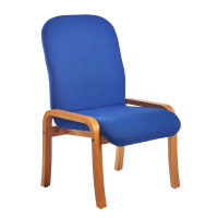 Yealm modular beech wooden frame chair with no arms 540mm wide - blue