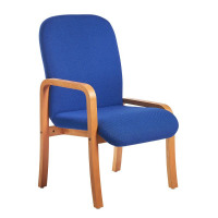 Yealm Reception Seating Chair Right Arm Blue