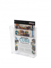 Deflecto Clear Flat Back Literature Holder DE76301