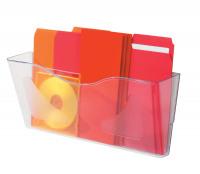 Deflecto Crystal Landscape Literature Holder A4 CPO74YTCRY