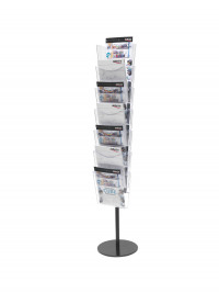 Deflecto Literature File Floor Stand A4 7 Pocket CP082YTCRY