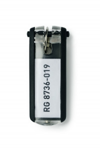 Durable Key Clip Black Ref 1957-01 [Pack 6]