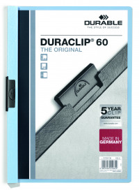Durable 6mm Blue A4 Duraclip File (Pack of 25) 2209/06