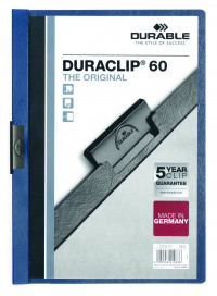 Durable A4 Duraclip File 6mm Dark Blue (Pack of 25) 2209/07