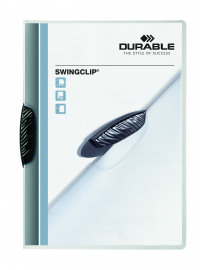 Durable Swingclip A4 Black Clip Folder (Pack of 25) 2260/01