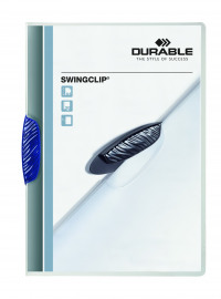Durable Swingclip A4 Dark Blue Clip Folder (Pack of 25) 2260/07