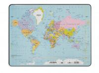 Durable World Map Desk Mat PVC Non-slip Base W530xD400mm Ref 7211/19