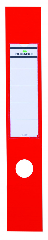 Durable Red Ordofix File Spine Label (Pack of 10) 8090/03