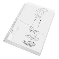 Esselte Pocket Portrait Top Opening Embossed A3 Clear (Pack of 10) 47181