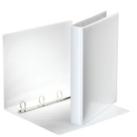 Esselte A4 White 25mm 4 D-Ring Presentation Binder 49702