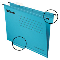 Esselte Classic Foolscap Blue Suspension File Pack of 25 90334