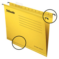 Esselte Classic Suspension File Reinforced Foolscap File Yellow Ref 90335 [Pack 25]