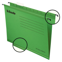 Esselte Classic Foolscap Suspension File Green Pack of 25 90337