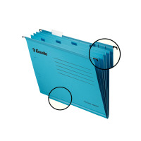 Esselte Classic Blue Foolscap Suspension File Divider (Pack of 10) 93135