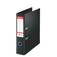 Esselte No. 1 Lever Arch File PP Slotted 75mm Spine A4 Black Ref 880019