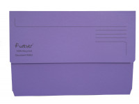 Exacompta Guildhall Forever Document Wallet Manilla Foolscap Bright Purple (Pack of 25) 211/5005
